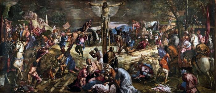 Tintoretto, La crocifissione, Sala dell'albergo, Scuola di San R